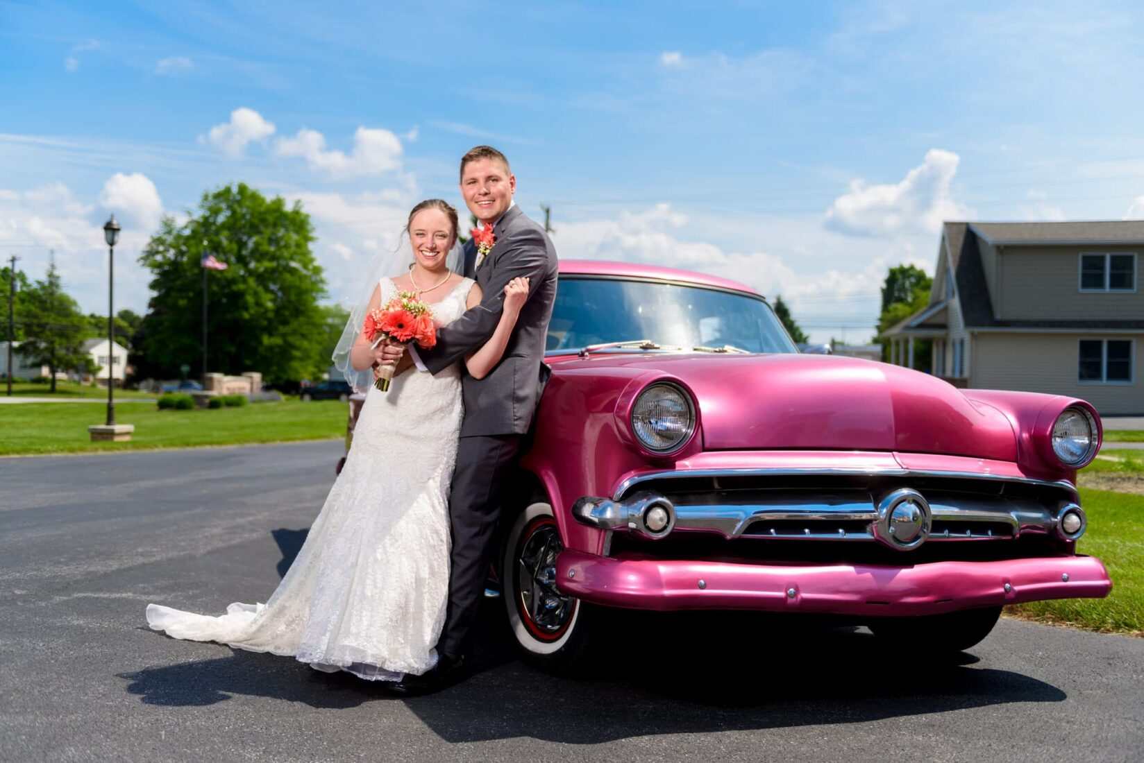Wedding Photography with cars
